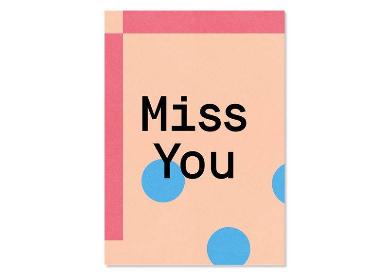 Design Grußkarte Miss You — Kleine Prints