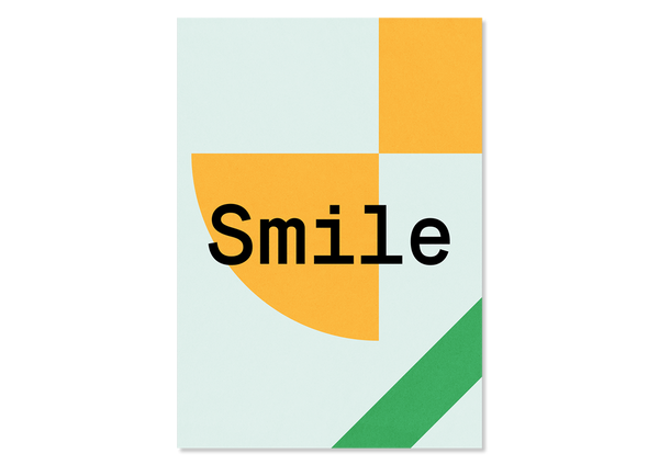 Design Postkarte Smile — Kleine Prints