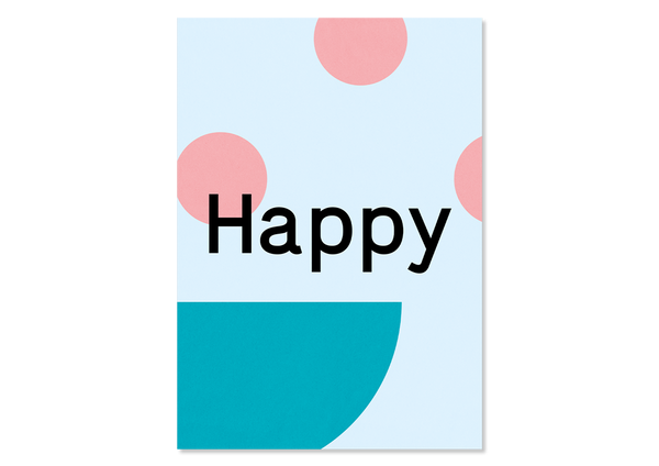 "Design Grußkarte ""Happy"" — Kleine Prints"