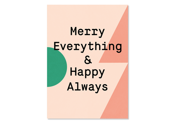 "Bunte Weihnachts Grußkarte ""Merry Everything"" — Kleine Prints"
