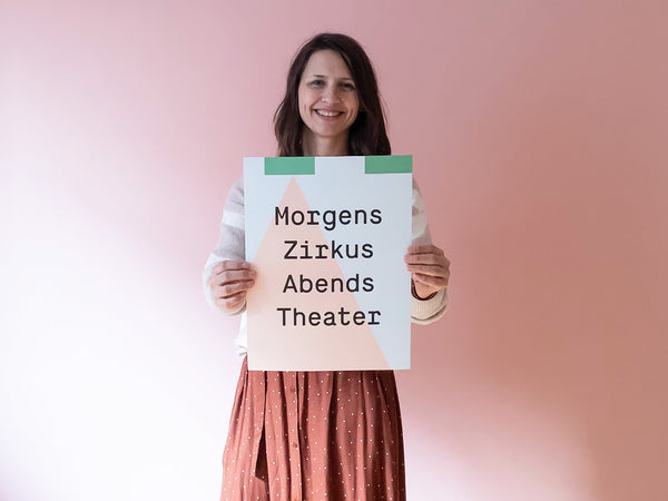 Morgens Zirkus Abends Theater Poster — Kleine Prints