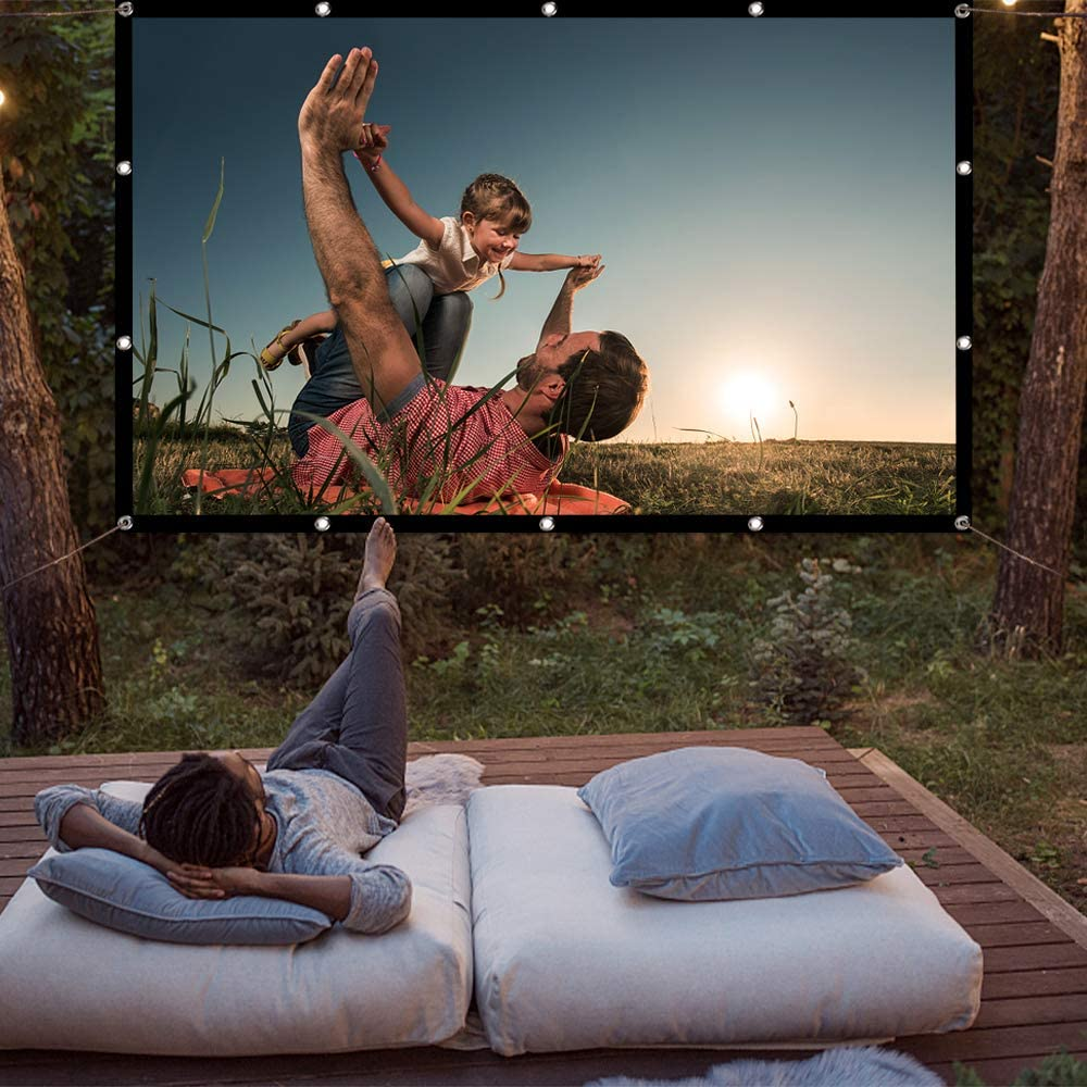 At Home Portable Projector Screen