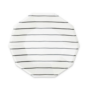 Black Striped Large Plates