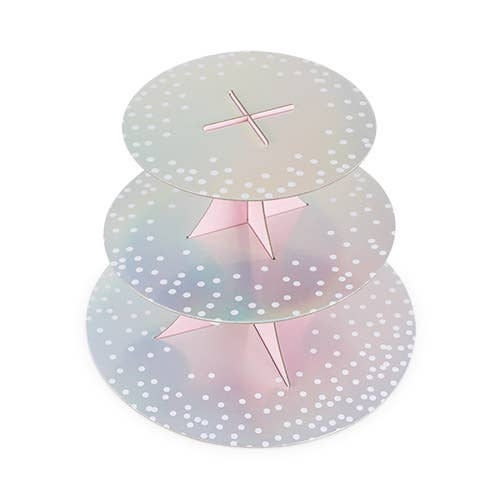 Gleaming Paper Cupcake Stand