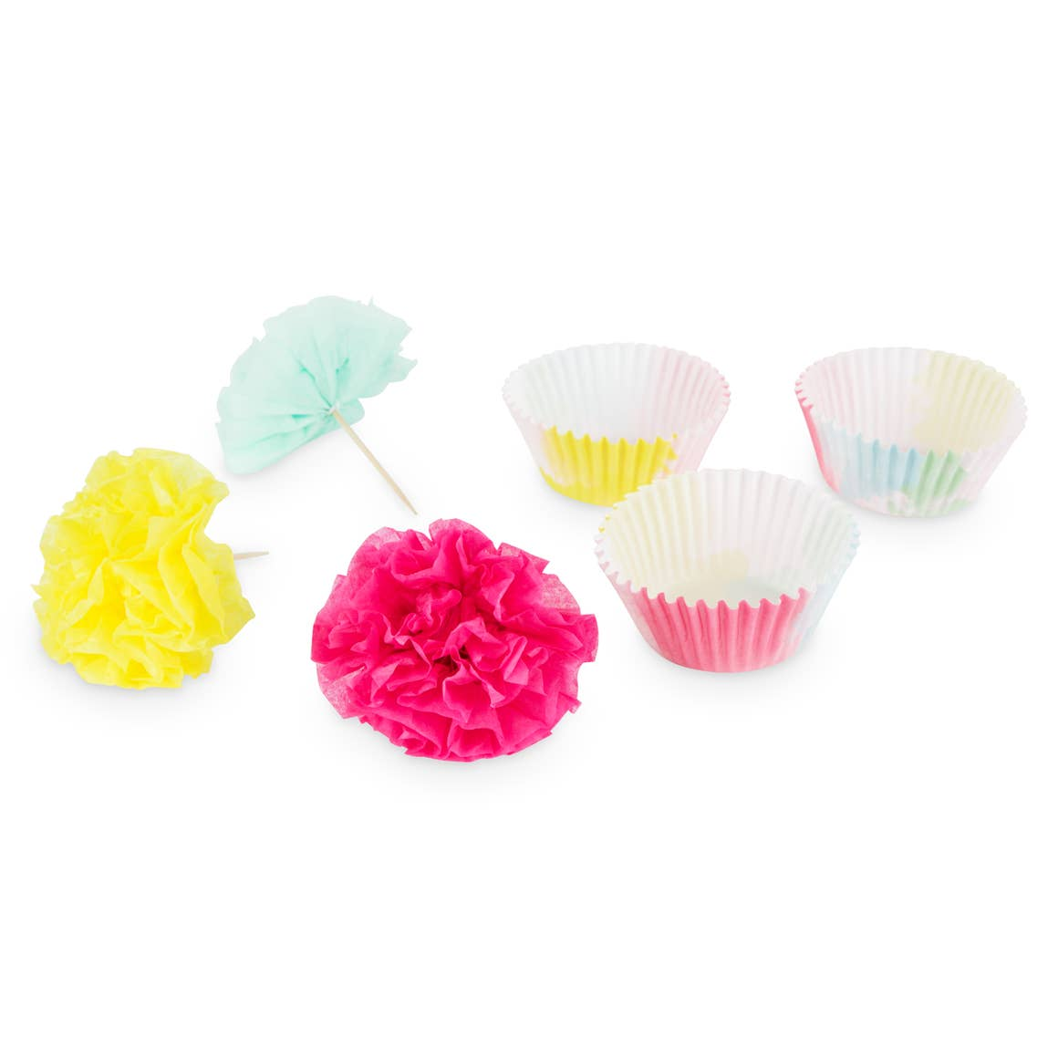 Flower Tissue Cupcake Kit