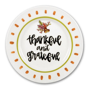 "10.5"" Thankful and Grateful Plate"