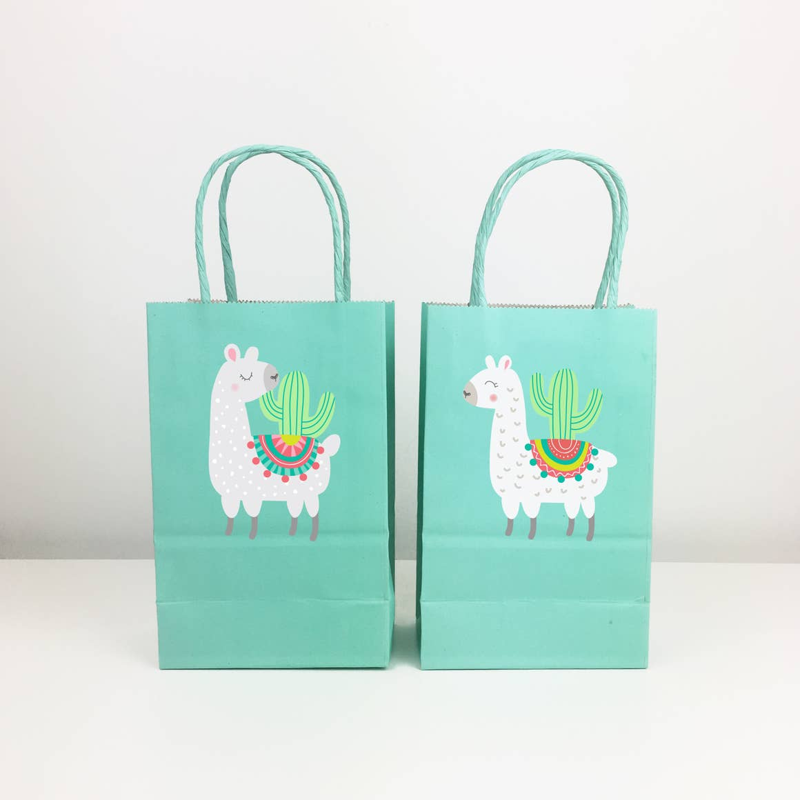 Llama and Cactus - Gift Bag Stickers