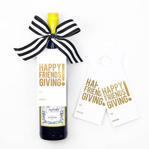 Friendsgiving Wine Tags - Wine & Spirits Gift Kit- Box of 3