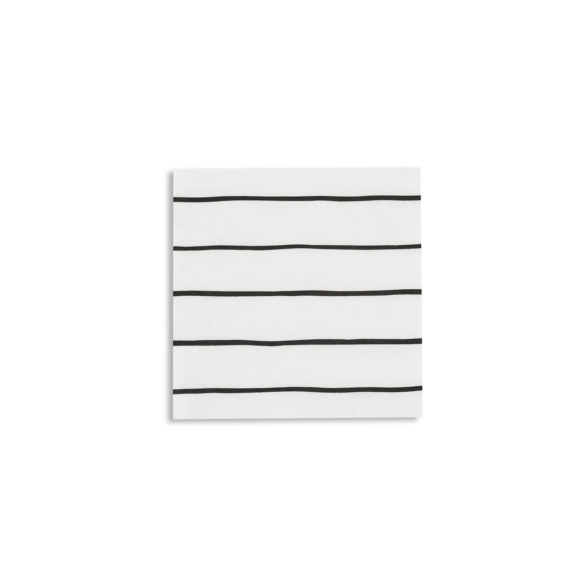 Black Stripe Cocktail Napkins