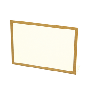 Gold Metallic Frame Place Card