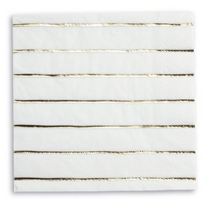 gold metallic striped large napkins