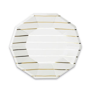 Gold Striped Dinner Plates