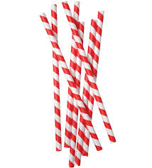 Red Stripe Straw