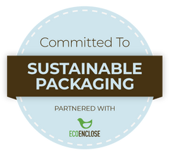 Partnered with EcoEnclose, committed to sustainable packaging