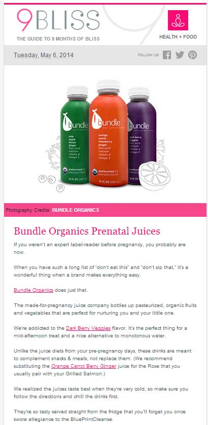 9bliss reviews bundle organics prenatal juices 9bliss may 2014 malvernweather Images