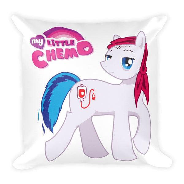 """My Little Chemo"" Square Pillow"