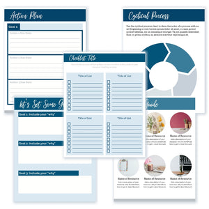 Customizable Workbook Template | Driftwood: 18 pages [for Canva]