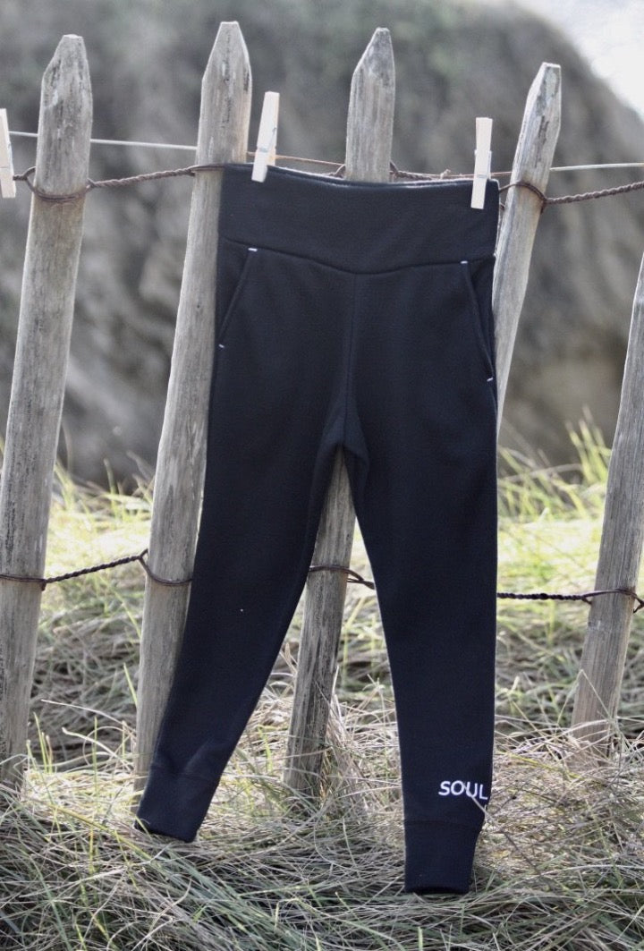 Children's jogging pants in organic cotton SOUL REBELLE embroidered 🇫🇷