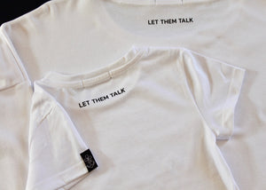Children's organic cotton T-shirt LET THEM TALK 🇫🇷