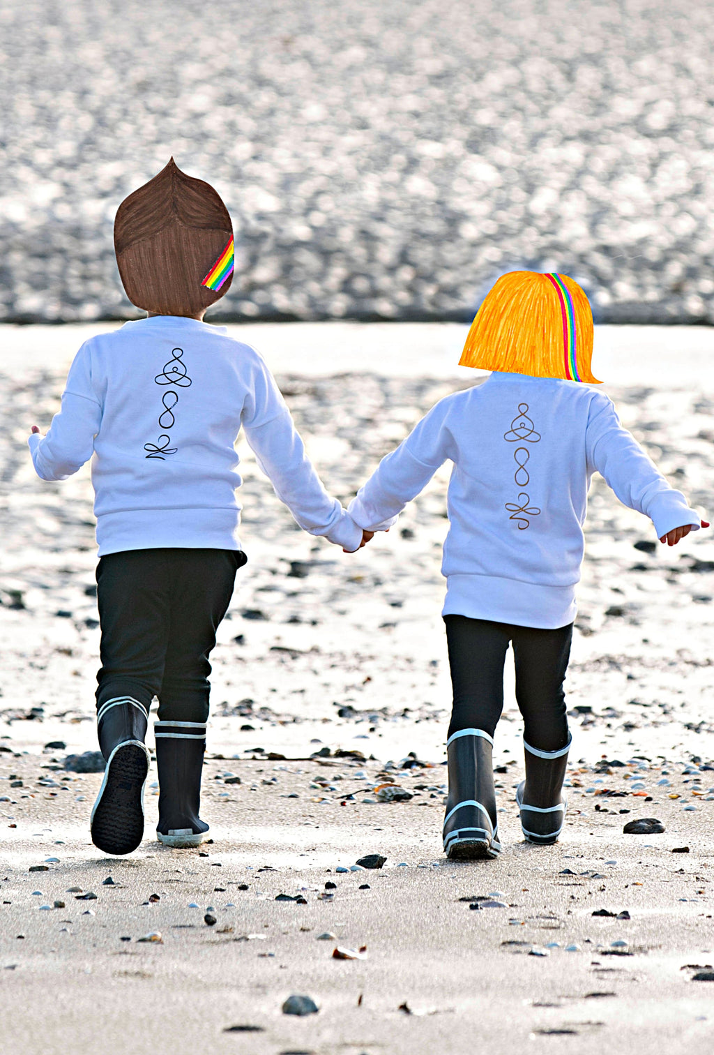 Children's organic cotton sweatshirt FAMILY CONNECTED 🇫🇷