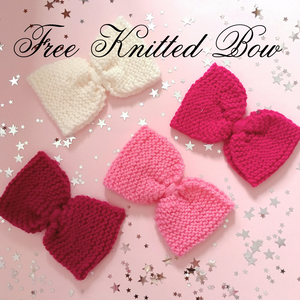Beauxoxo Xmas Day 14: FREE Knitted Bow with all orders