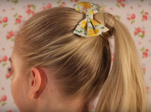 How To: High Ponytail with Bow Hair Tutorial