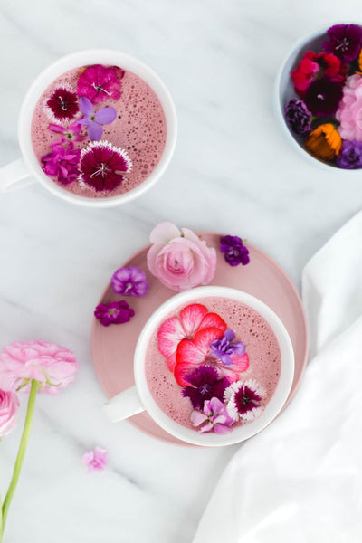 pink pomegranate latte
