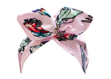 1950s American Car Print Wire Headband, Retro Pin Up Rockabilly Hair Wrap