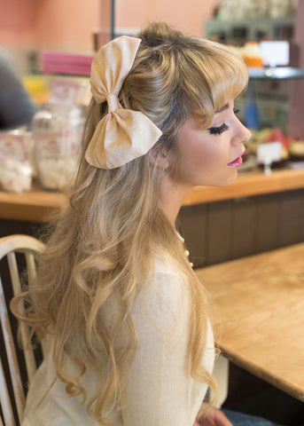 Pastel Polka Dot Oversized Hair Bow- IN 7 COLOURS