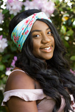 English Roses Floral Turban Headwrap, Pretty Roses Headwrap, Hair Accessory