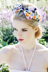 Liquorice Allsorts Dolly Mixture Bow Headband Rockabilly Pin Up Girl