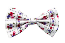 Floral Printed Hair Bow, Pretty Folklore Hair Accessory - IN 2 SIZES
