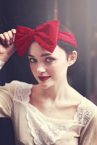 Velvet Bow Headband, Velvet Headband- IN 16 COLOURS