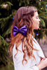 Purple Velvet Bow