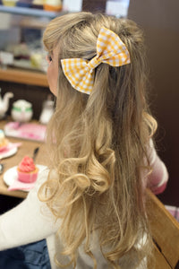 Medium Gingham Hair Bow Pin Up Rockabilly Hair Accessory - IN 7 COLOURS