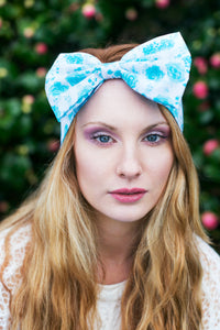 Floral Rose Bow Headband, Dolly Bow, Floral Bow Headband, Ditsy Rose Headband- IN 4 COLOURS