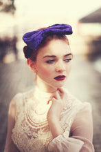 Bright Purple velvet bow headband