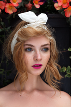 Broderie Anglaise Wire Headband, Rockabilly Pin Up Girl Hair Wrap