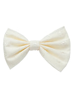 Cream Hair Bow, Broderie Anglaise Bow - IN 2 SIZES