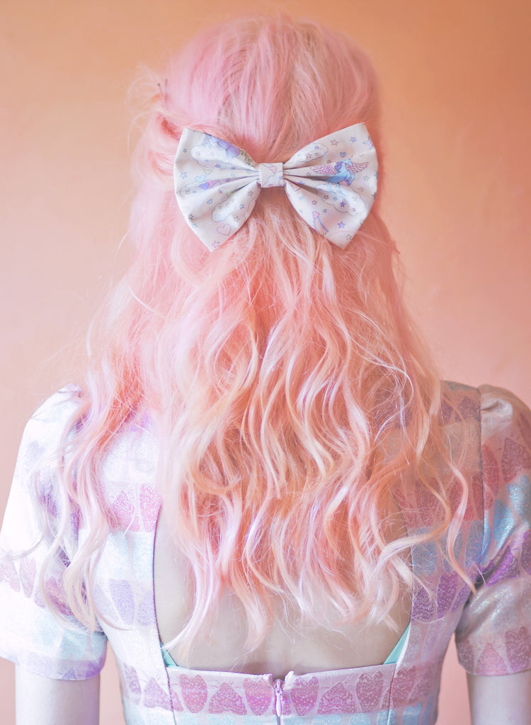 Unicorn Bow, Cute Kawaii Unicorn Hair Bow- MEDIUM