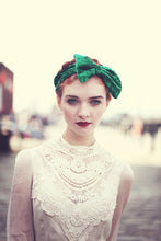 Emerald Green velvet bow headband
