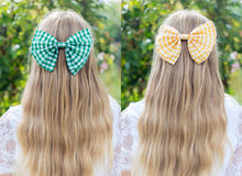 Oversized Gingham Hair Bow Clip- LOTS OF COLOURS