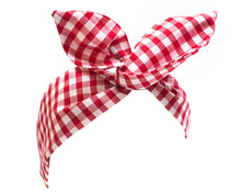 Gingham Wire Headband, Dolly Bow, Retro Pin up Rockabilly Hair Wrap- IN 8 COLOURS