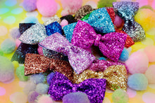 Glitter Hair Bows- AVAILABLE IN 16 COLOURS