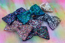 Multi-Coloured Glitter Hair Bows- AVAILABLE IN 7 COLOURS
