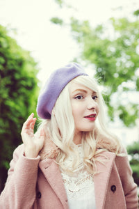 Marie Antoinette Beret, Embroidered Beret, French Beret Fashion- IN 3 COLOURS