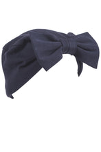 Navy Turban Bow Hat