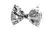 Newspaper Print Hair Bow on clip Rockabilly Pin Up Hair Accessory - IN 2 SIZES
