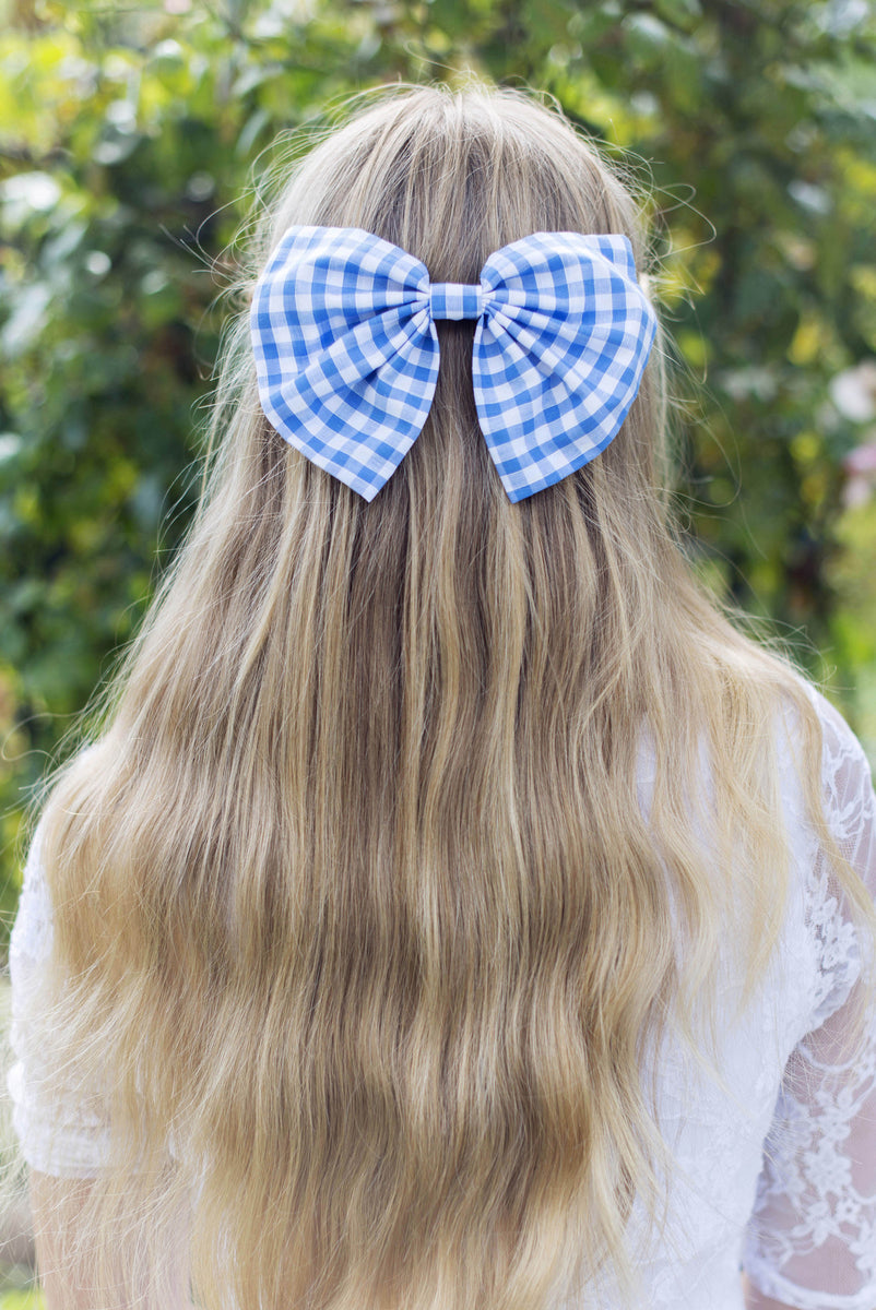 Oversized Gingham Hair Bow Clip Lots Of Colours
