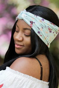 Pastel Floral Turban Headband, Pastel Head Wrap, Floral Headband- IN 2 COLOURS